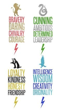 Harry potter. Gryffindor, slytherin, hufflepuff, and ravenclaw.