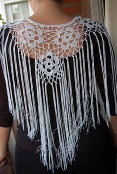 Mantoncillo traje de flamenca / Crochet shawl