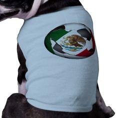 Mexico Soccer Ball Doggie T Shirt #soccer #mexico #mexicosoccer #fubol #gravityx9 #petshirt