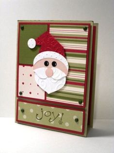 This card is sure to bring a smile to the face of anyone who receives it! Punch Art Santa