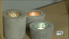 DIY Concrete Candle
