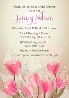 Floral Bridal Shower Invitation - Printable Bridal Shower Invite