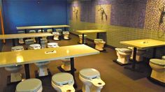 Who Says You Can't Eat in the Bathroom? Not L.A.'s Toilet Restaurant, Magic Restroom Cafe