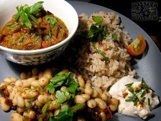 Mirza Ghasemi - Persian Eggplant vegan recipe