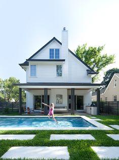 architect, white houses, color palett, house design, austin texas, pool patio, backyard decks, saltbox houses, pools