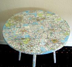 Map table decoupage.