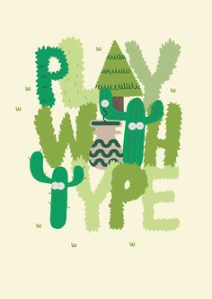 PLAY WITH TYPE Stop Motion by Jose Miguel Méndez, via Behance