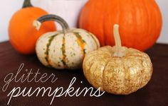 Unusually Lovely: Create Something - Blog - Glitter Pumpkin DIY
