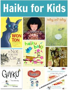 A list of haiku poetry books to share with kids. A variety of books suitable for babies on up!