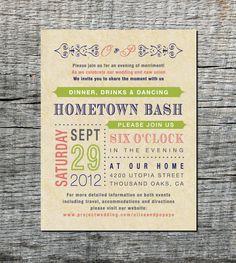 Reception Card - Wedding Invitation Old Fashioned Style - DIY Printable. $20.00, via Etsy.