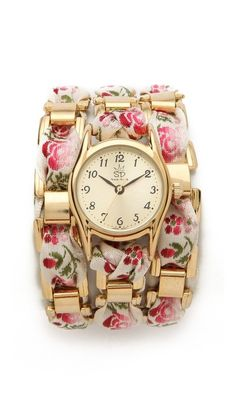 floral wrap watch / sara designs