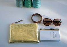 #gold #leather #clutch #pouch by Florence Oliver $36