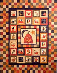 Fall Frolick Quilt Pattern by Mountain Peek Creations at KayeWood.com. Make some crazy fabric and create this wonderful applique center. http://www.kayewood.com/item/Fall_Frolick_Quilt_Pattern/2944 $8.00