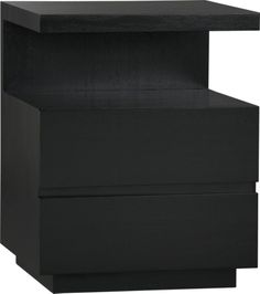 Pavillion Black Nightstand  | Crate and Barrel