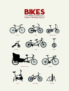 graphic, bike, bicycl, sanfrancisco, art, posters, san francisco, print, design