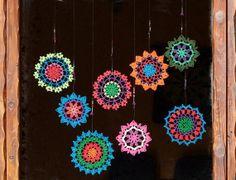 Crochet doily mandala crochet dreamcatcher by SparklingKnitwear