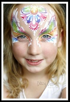 Rainbow Princess by the amazing Daizy Design Facepainting
