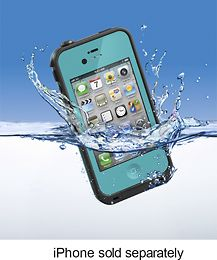Teal LifeProof Case-for the iphone...no more bags of rice....get it?