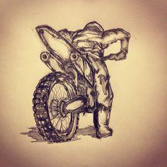 Motorcross tattoo sketch by - Ranz