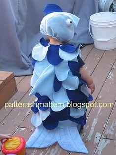 DIY Tutorial: DIY Baby Girls Halloween Costumes / DIY Halloween Fish Costume - Bead&Cord