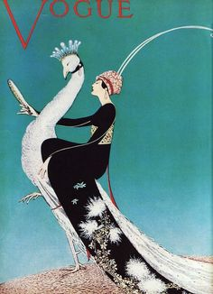 peacock vogue cover 1911. does anyone else think that vogue should reintroduce illustrated covers?? they were SO much better!