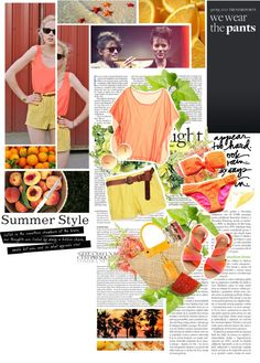 """""""Orange!"""" by zzia ❤ liked on Polyvore"""