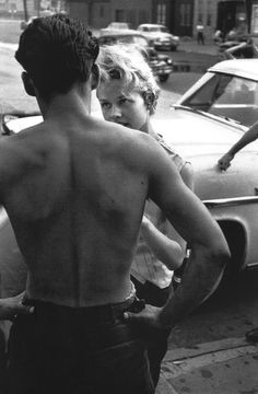 A photo by Bruce Davidson, 1959, part of his project Brooklyn Gang