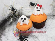 Cupcakes fantasmas para Halloween