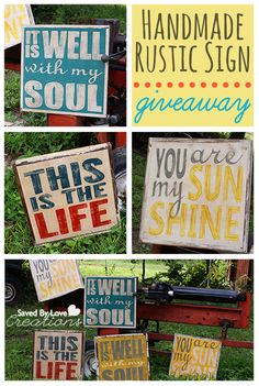 Get your own free rustic hand painted reclaimed wood sign @savedbyloves There is also a detailed tutorial if you want to make your own!
