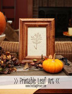 Printable Leaf Art with livelaughrowe.com