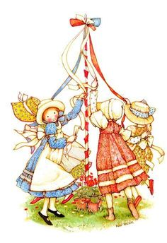 Holly Hobbie May Pole dance