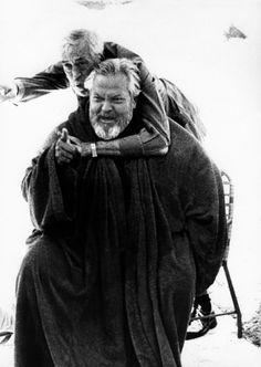 Orson Welles and John Huston