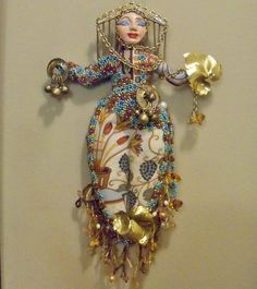 Ooak Fall Harvest Goddess cloth art doll 10 1/2 in. by arziehodge $42.00 on Etsy.com