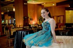 A gold & green cocktail dress from It's Simply For You for Bari's Harry Potter themed Bat Mitzvah