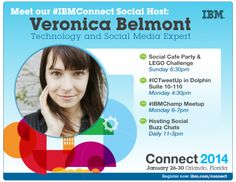 Technology and social media expert Veronica Belmont joins us at #IBMConnect.  Will you? http://ibm.co/ibmconnect
