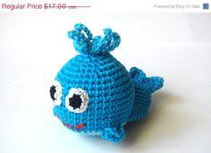 Crochet baby whale