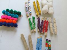 Sensory clothes pins - What would you do with them? *repinned by WonderBaby.org