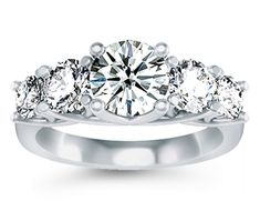 Five Diamond Ring in Platinum