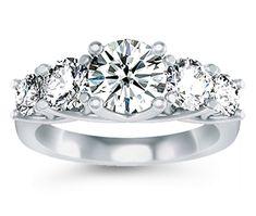 Five Diamond Ring in Platinum