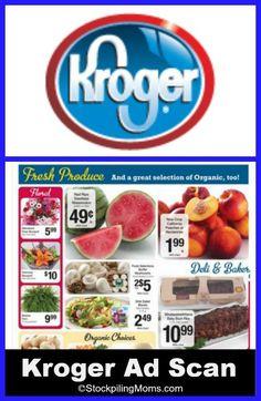 Kroger Ad Scan 6/18 - 6/24 10 for $10 Sale! #kroger #krogeradscan http://www.stockpilingmoms.com/2014/06/kroger-grocery-store-ad-scan-618-624/