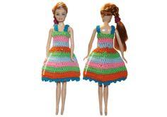 Tutorial: vestido para muñecas tejido a crochet!