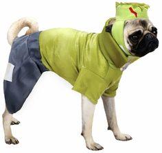 Casual Canine Frankenhound Costume Green - SMALL
