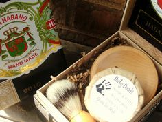 Mens Shaving Kit Cigar Box Gift Set by DirtyDeedsSoaps on Etsy