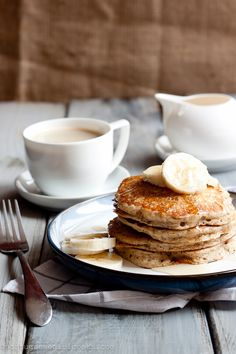 Whole Wheat-Flax Buttermilk Pancakes. #food #yummy <3 Visit www.thatdiary.com for tips + advice on health and fitness