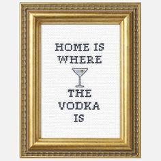 Vodka Home Cross-Stitch Kit