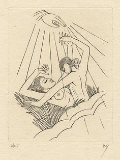 Wood Engravings by Eric Gill Earth Receiving