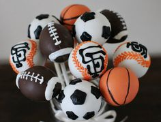 Sports Themed Cake Pops