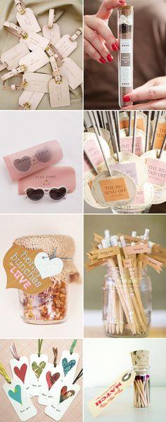 Ideas para souvenirs personalizados.  29 Personalized Creative Wedding Favors