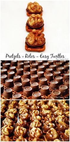 Easy Pretzel Turtles