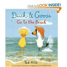 Duck & Goose Go to the Beach: Tad Hills: 9780385372350: Amazon.com: Books